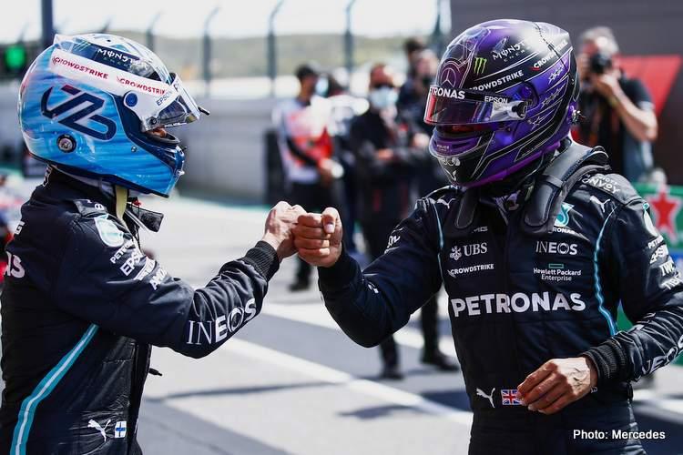hamilton bottas mercedes portimao qualifying 2021