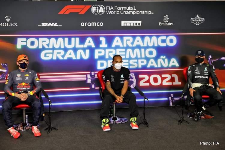 press conference hamilton verstappen bottas barcelona qualifying