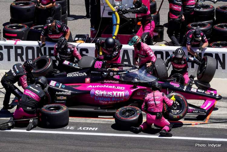 meyer shank racing castroneves pitstop indy 500 win