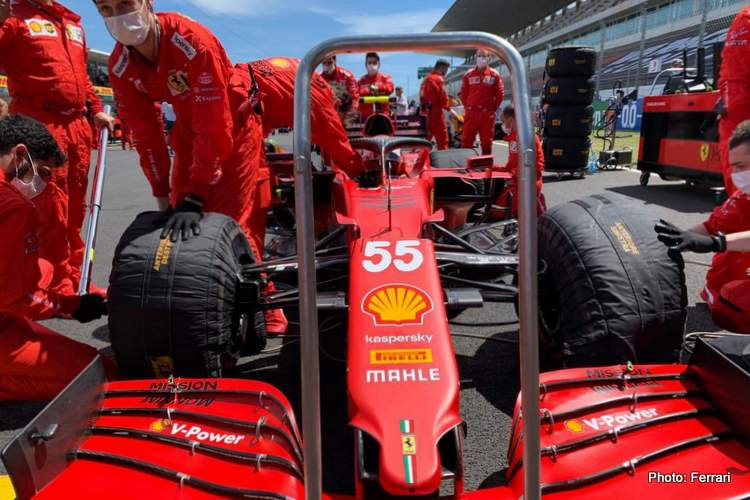 sainz portimao grid Ferrari