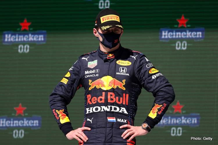 Verstappen Portuguese Grand Prix podium