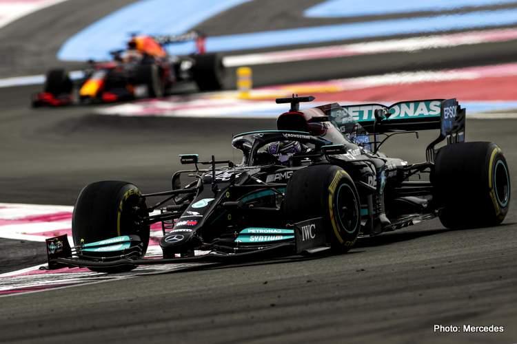 2021 French Grand Prix, Sunday Hamilton mercedes verstappen