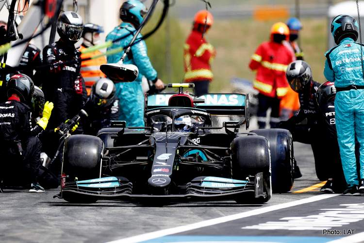 2021 French Grand Prix, Sunday valtteri bottas mercedes pitstop