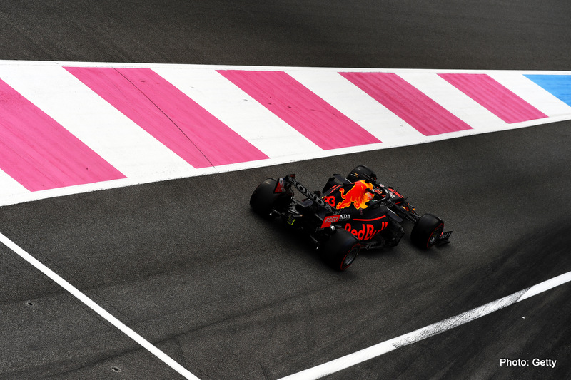 LE CASTELLET, FRANCE - JUNE 19: Max Verstappen of the Netherlands driving the (33) Red Bull Racing RB16B Honda during qualifying ahead of the F1 Grand Prix of France at Circuit Paul Ricard on June 19, 2021 in Le Castellet, France. (Photo by Rudy Carezzevoli/Getty Images)