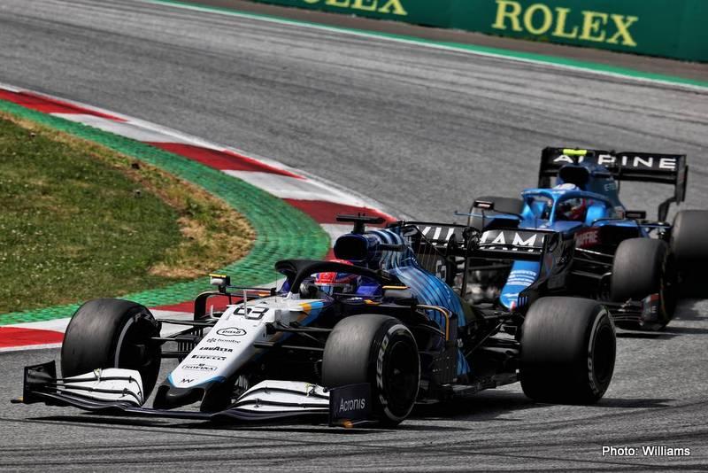 George Russell (GBR) Williams Racing FW43B. Steiermark Grand Prix, Sunday 27th June 2021. Spielberg, Austria.