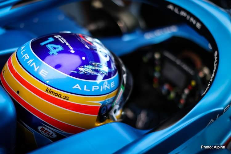 Fernando Alonso (ESP) Alpine F1 Team A521.  Azerbaïdjan