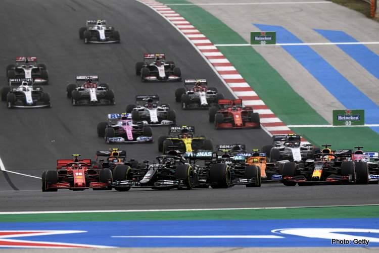 casino Formula One F1 - Portuguese Grand Prix - Algarve International Circuit, Portimao, Portugal - October 25, 2020 Mercedes' Lewis Hamilton in action at the start of the race Pool via REUTERS/Jorge Guerrero betting formula 1 casino