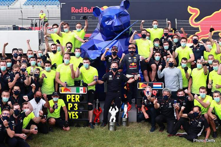 red bull horner celebrate french grand prix f1 victory