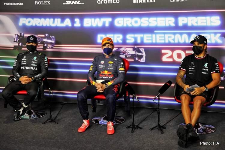 syrian GP qualifying press conference verstappen hamilton bottas