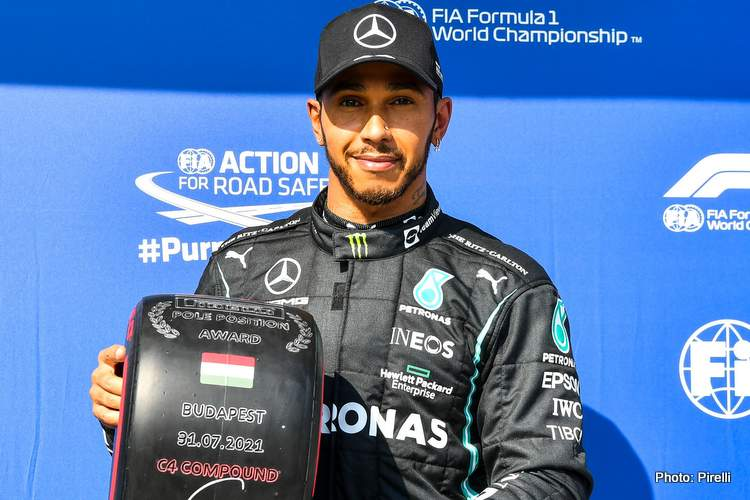 Lewis Hamilton 2021 Hungarian Grand Prix pole Mercedes