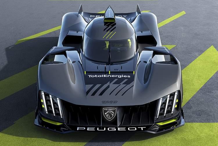 Front view Peugeot 9X8 Le Mans Hypercar