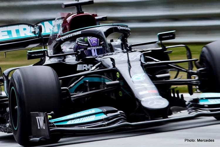 hamilton qualifying austrian grand prix mercedes