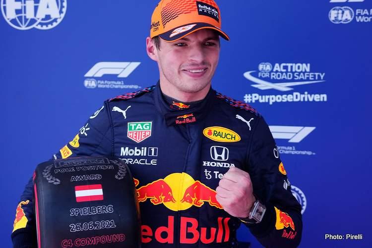 max verstappen pole position grand prix d'autriche red bull ring