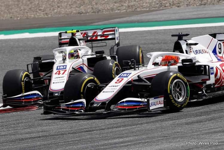 steiner not schumacher mazepin haas f1 team rivalry crash spin