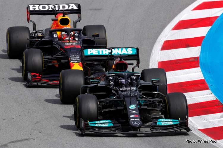 verstappen hamilton 2021 Grand Prix d'Espagne, dimanche - LAT Images