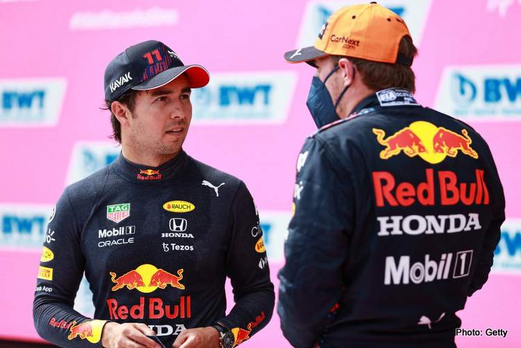 verstappen perezred bull qualifying austrian grand prix