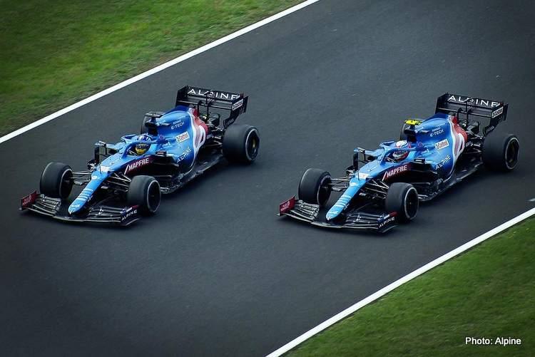 alonso ocon hungarian grand prix 2021 alpine F1