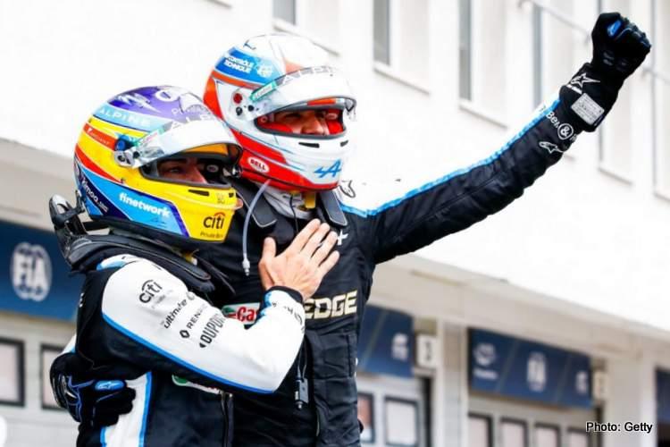 fernando alonso esteban ocon 2021 hungarioan grand prix winner