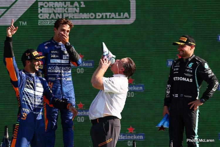 podium 2021 italian grand prix podium bottas brown norris ricciardo mclaren