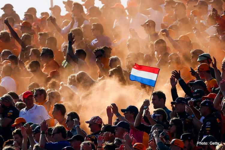 Dutch grand prix fans verstappen win celebrate party happy