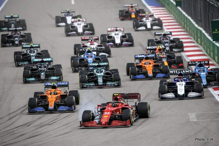 2021 Russian Grand Prix start
