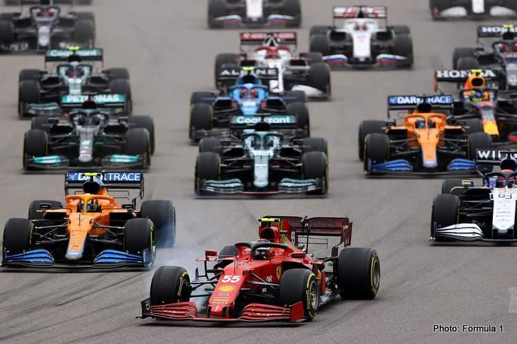 sochi start 2021 russian grand prix