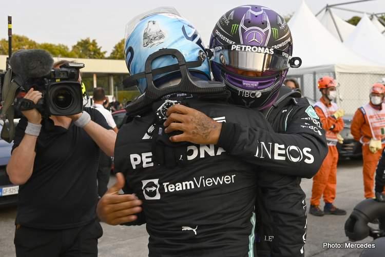 valtteri bottas lewis hamilton italian grand prix qualifying Monza 2021