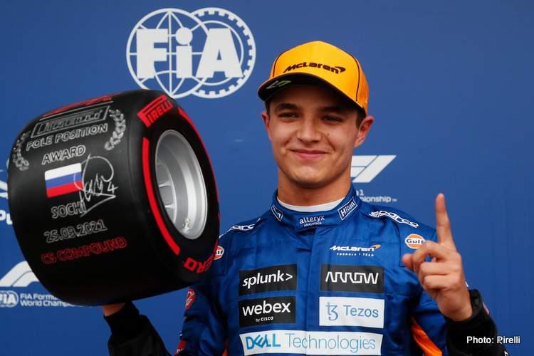 lando norris first pole position 20231 Russian Grand Prix qualifying Sochi