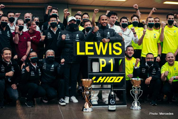 leiws hamilton 100 wins mind blowing says Wolff
