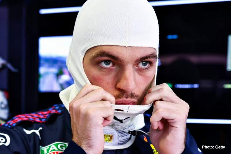verstappen back of the grid sochi 2021