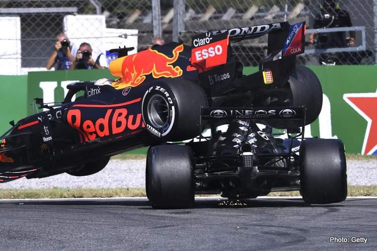 verstappen hamilton crash monza italian grand prix