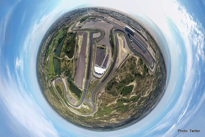 zandvoort aerial fisheye dutch grand prix