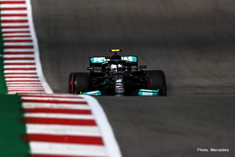 Bottas leads FP1 in Austin as Mercedes fires an early warning shot