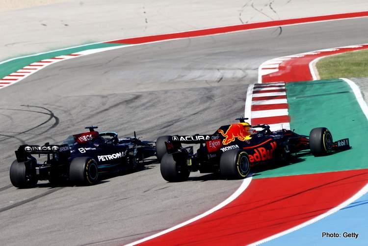 hamilton Verstappen united States Grand Prix