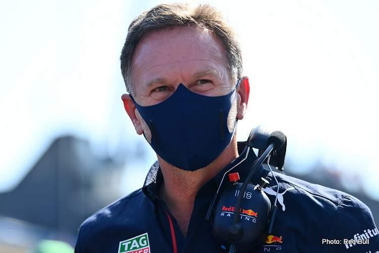 Christian Horner talks Verstappen's Copse crash and team future.