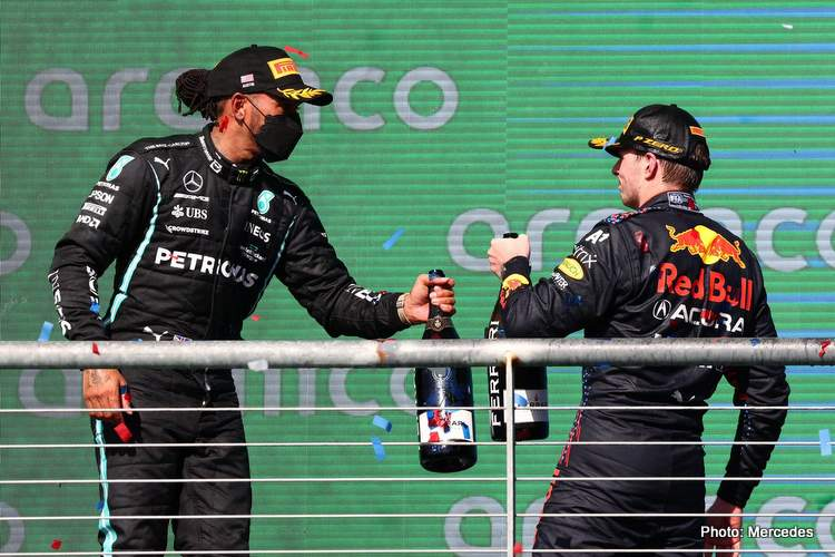 Lewis Hamilton had to settle for second in the 2021 US GP behind Max Verstappen