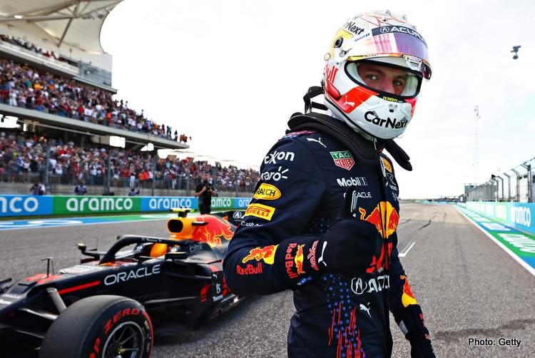 Max Verstappen takes pole at Austin for the 2021 US Grand Prix