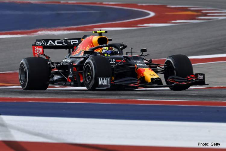 Sergio Perez says he had a positive Friday in Austin for the 2021 US grand Prix