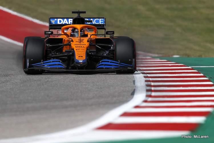 Daniel Ricciardo beat Lando Norris to seventh in qualifying for the 2021 US GP in Austin
