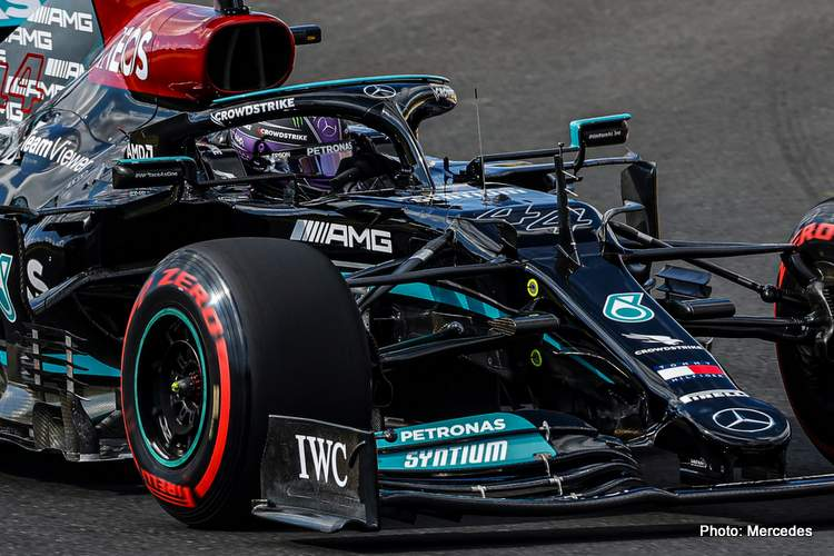 istanbul quailfying Hamilton fastest in Turkey but starts 11th after engine penalty