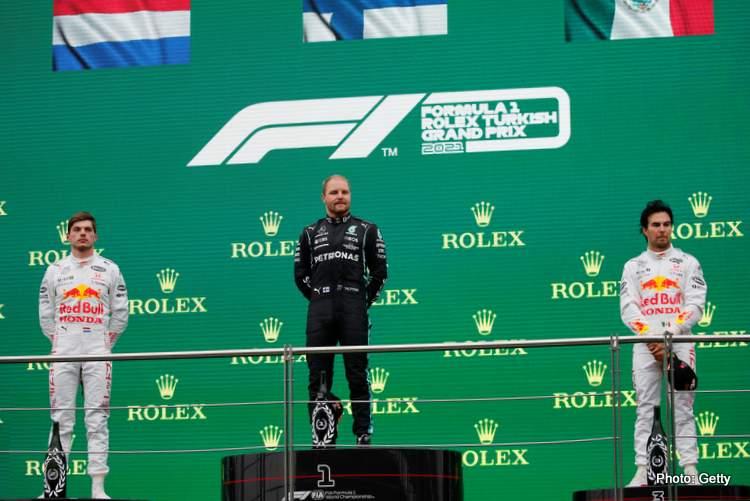 bottas perez verstappen podium Turkish Grand Prix