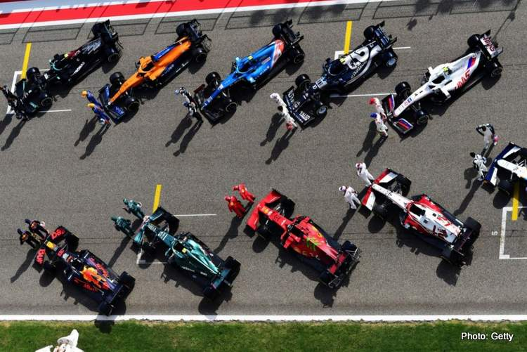 f1 sponsorship grid aerial