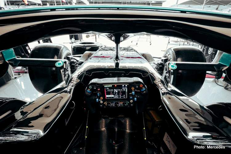 hamilton mercedes cockpit F1 bottas