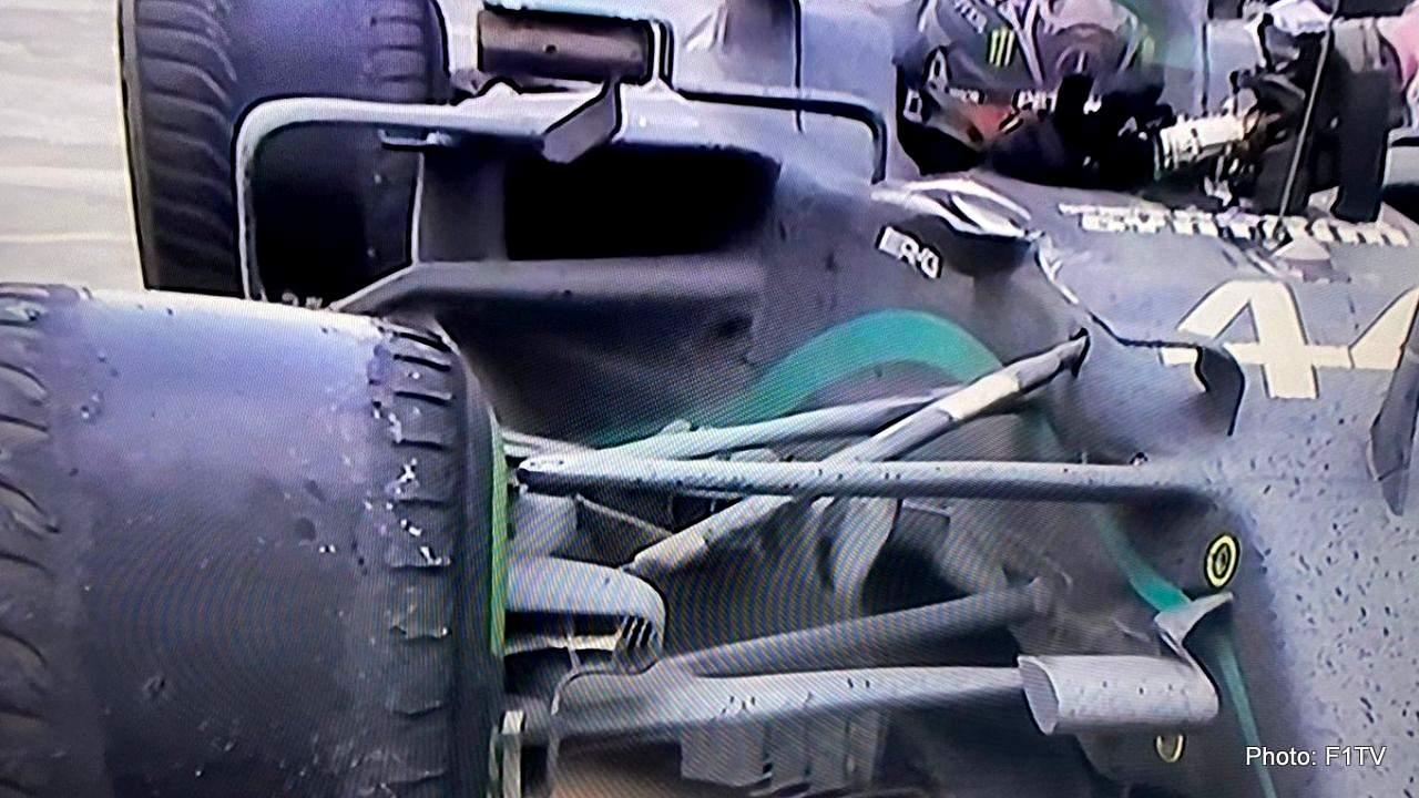 pneus hamilton après le grand prix de Turquie inters toile intermédiaires